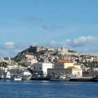 Just a quick look behind (city of Milazzo) few minutes after our ferry set off